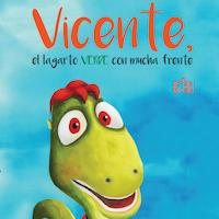 Vicente, el lagarto verde con mucha frente