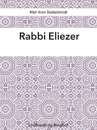 Rabbi Eliezer