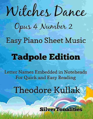 Witches Dance Opus 4 Number 2 Easy Piano Sheet Music Tadpole Edition