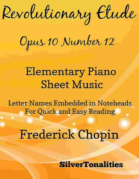 Revolutionary Etude Opus 10 Number 12 Elementary Piano Sheet Music