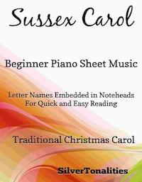 Sussex Carol Beginner Piano Sheet Music