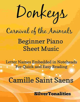 Donkeys Carnival of the Animals Beginner Piano Sheet Music