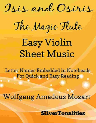 Isis and Osiris the Magic Flute Easy Violin Sheet Music