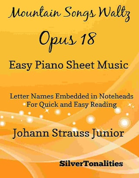 Mountain Songs Waltz Opus 18 Easy Piano Sheet Music