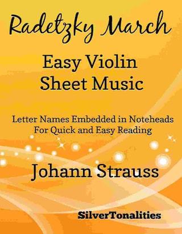 Radetzky March Easy Violin Sheet Music