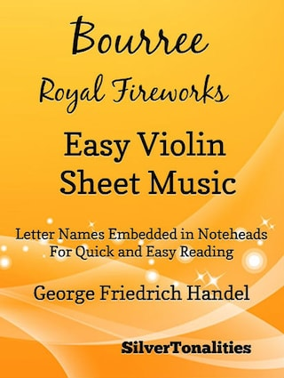 Bourree the Royal Fireworks Easy Violin Sheet Music