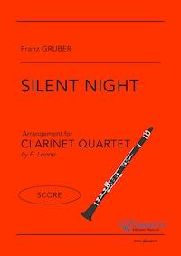 Silent Night - Clarinet Quartet (SCORE)