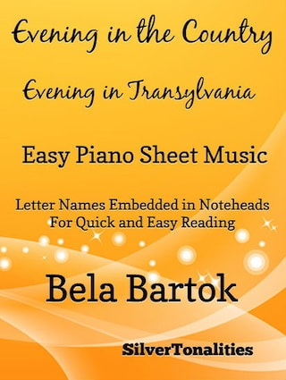 Evening in the Country Easy Piano Sheet Music