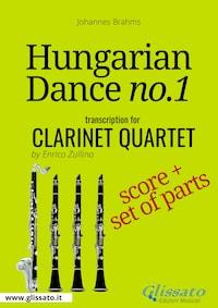 Hungarian Dance no.1 - Clarinet Quartet Score & Parts