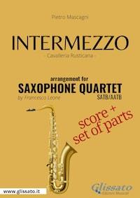 Intermezzo - Saxophone Quartet score & parts
