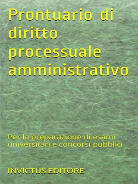 Prontuario di diritto processuale amministrativo