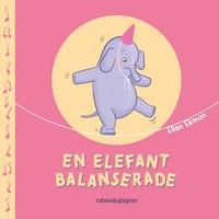 En elefant balanserade