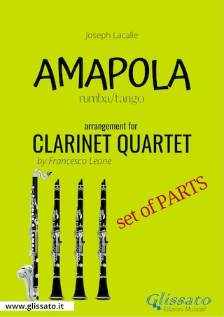 Amapola - Clarinet Quartet - set of parts