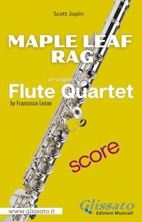 Maple Leaf Rag - Flute Quartet (score)